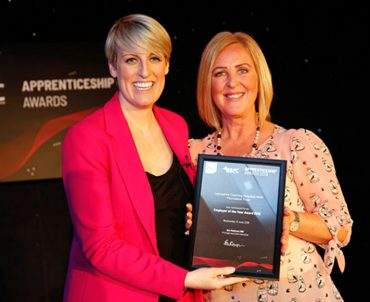 Jackie Higham received the award on behalf of the Trust