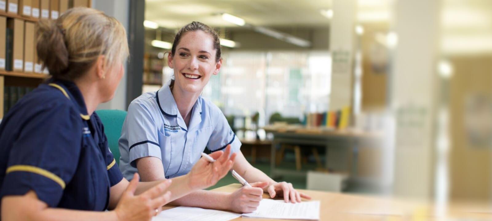 Nurses talking