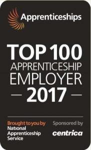 Apprenticeship top 100 employer