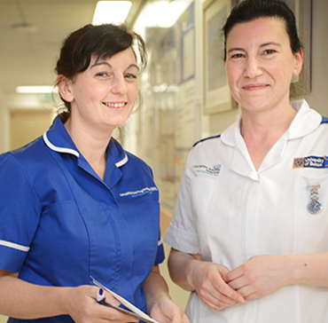 Clincal Placement Support - student pictured with nurse